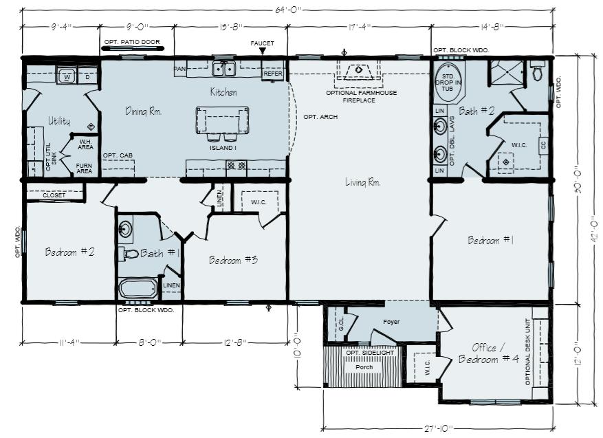 House Floor Plans   Mohawk Floor Plan   Wausau WI   Vertical Works