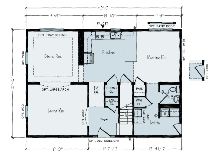2 Story House | Sylvan Main Floor Plan | Vertical Works