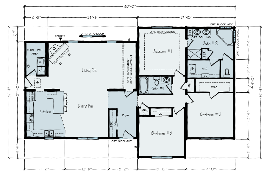 Webster Main Floor Plan | 1800 Square Foot House Plans | Vertical Works
