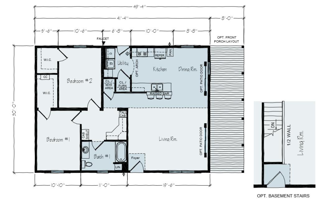 Witmer Main Floor Plain & Basement Option | Spicewood TX | Vertical Works